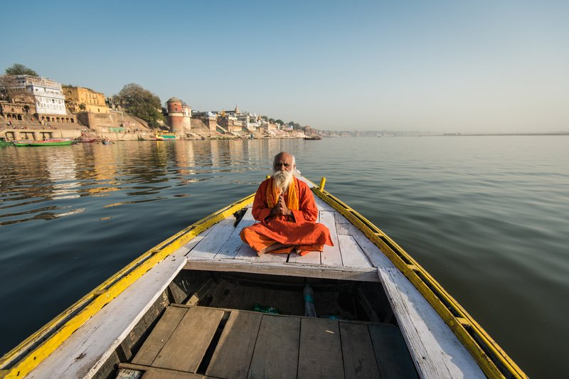 Varanasi Sadhu on boatphoto preview