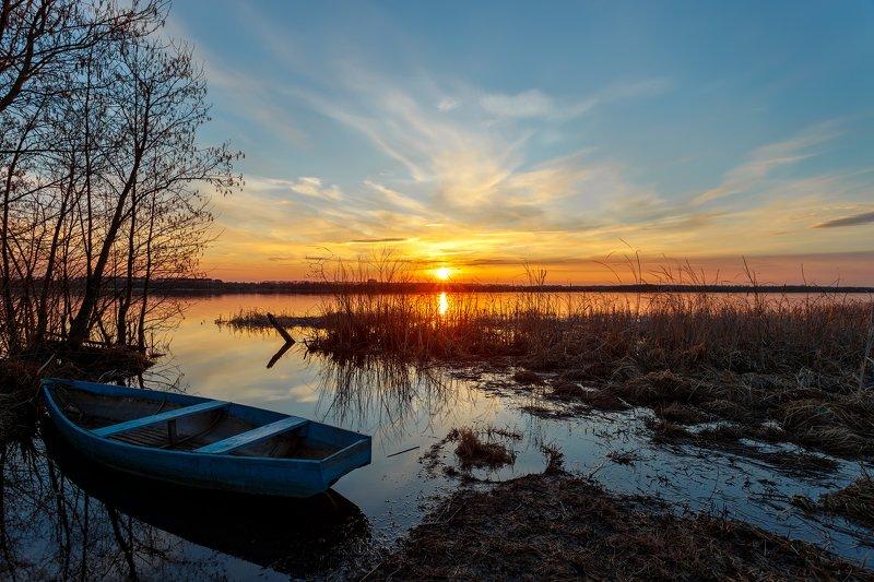 пейзаж, закат, озеро Закатphoto preview