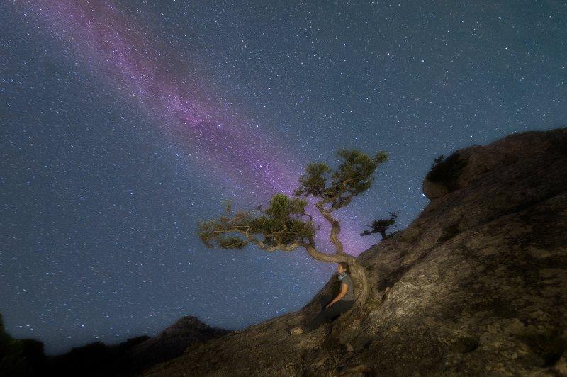 ночь Крымская ночь на пике Космосphoto preview