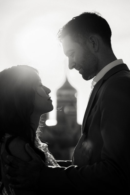 портрет, чб, он и она, любовь Без словphoto preview
