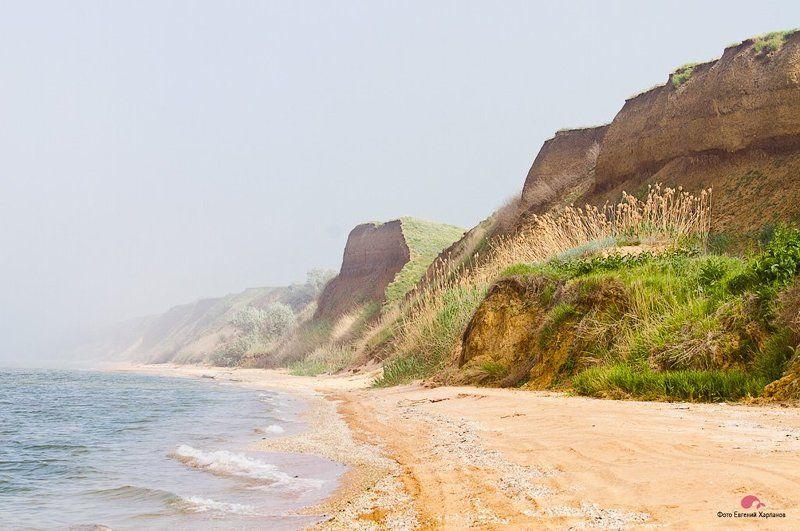 море, лето, пляж Туман на Азовском мореphoto preview
