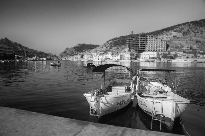 балаклава, крым, причал, лодки Тихое утро.photo preview
