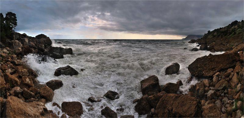 море, крым, шторм, инжир, ай-я Штормит на Ай-яphoto preview