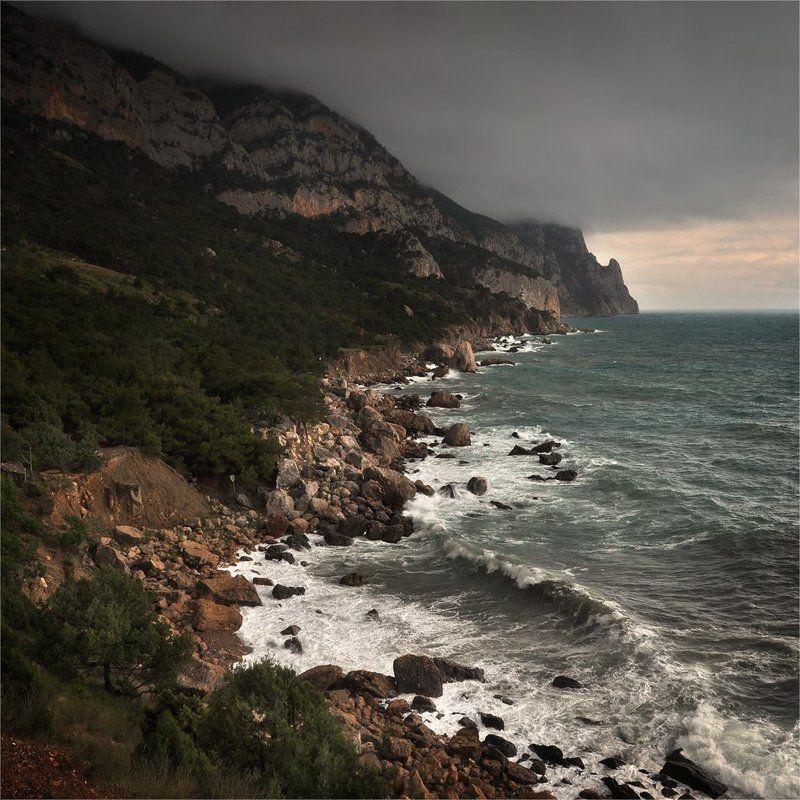 море,  крым,  шторм,  инжир,  ай-я Штормит на Ай-я IIphoto preview