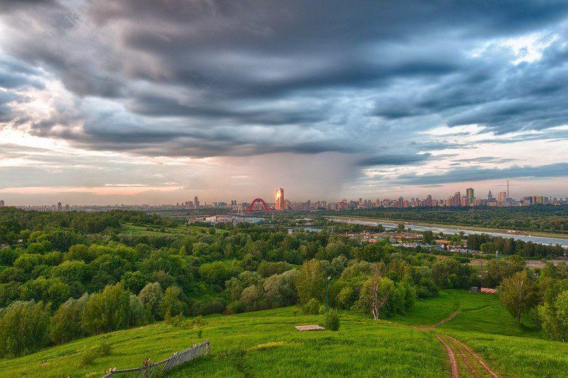 крылатские холмы, гроза, тучи, город, москва * * *photo preview