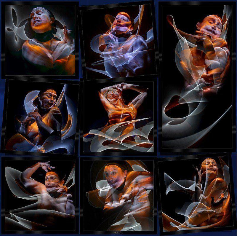 светографика, свет, портрет, обнаженная натура, akt, nude, ню, фантазия, импровизация Портрет с узоромphoto preview