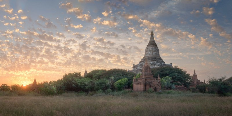 amazing, ancient, archaeological, architecture, asia, asian, attraction, bagan, beautiful, buddha, buddhism, buddhist, building, burma, burmese, culture, destination, evening, famous, field, heritage, history, iconic, kingdom, landmark, landscape, medieva At the End of the Dayphoto preview