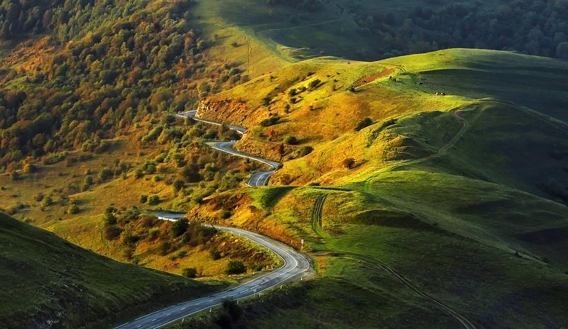 Дорога, горы, Дагестан, восход, утро, утро в горах, дороги Дагестана Дороги Дагестана photo preview