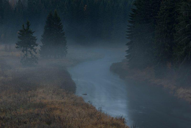 река, осень ,ленинрадская, минимализм, монохром В Октябре...photo preview
