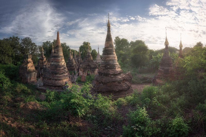 ancient, archeological, architecture, asia, asian, ava, brick, buddha, buddhism, building, burma, burmese, carving, city, column, complex, culture, evening, green, historic, history, house, inwa, jungle, landmark, landscape, mandalay, medieval, myanmar, o The Hidden Templephoto preview