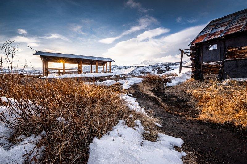 камчатка, зима, горы, закат, талуд Весна в предгорьяхphoto preview