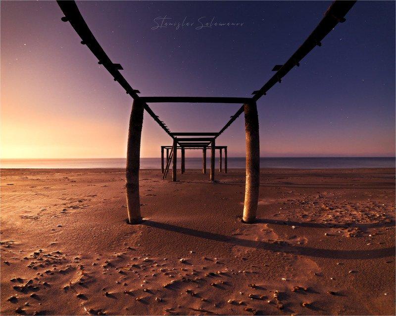 закат луны, пляж, пейзаж, космос, утро, рассвет, сюрреализм, природа Жизнь на Марсеphoto preview