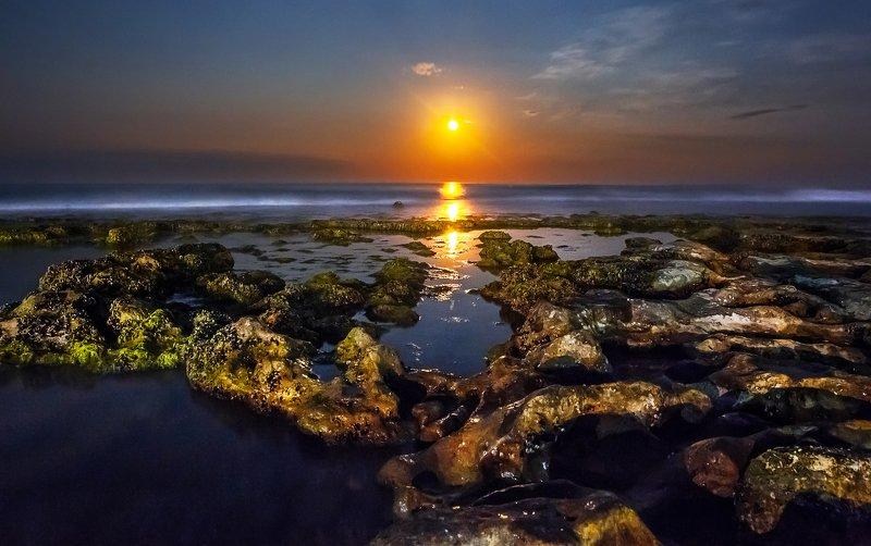 море, луна, отражение, восход, пейзаж, ночной пейзаж, ночное море Лунная дорожкаphoto preview