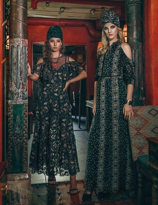 восточный стиль, чалма, модный образ, съёмка для журнала Кардамонphoto preview