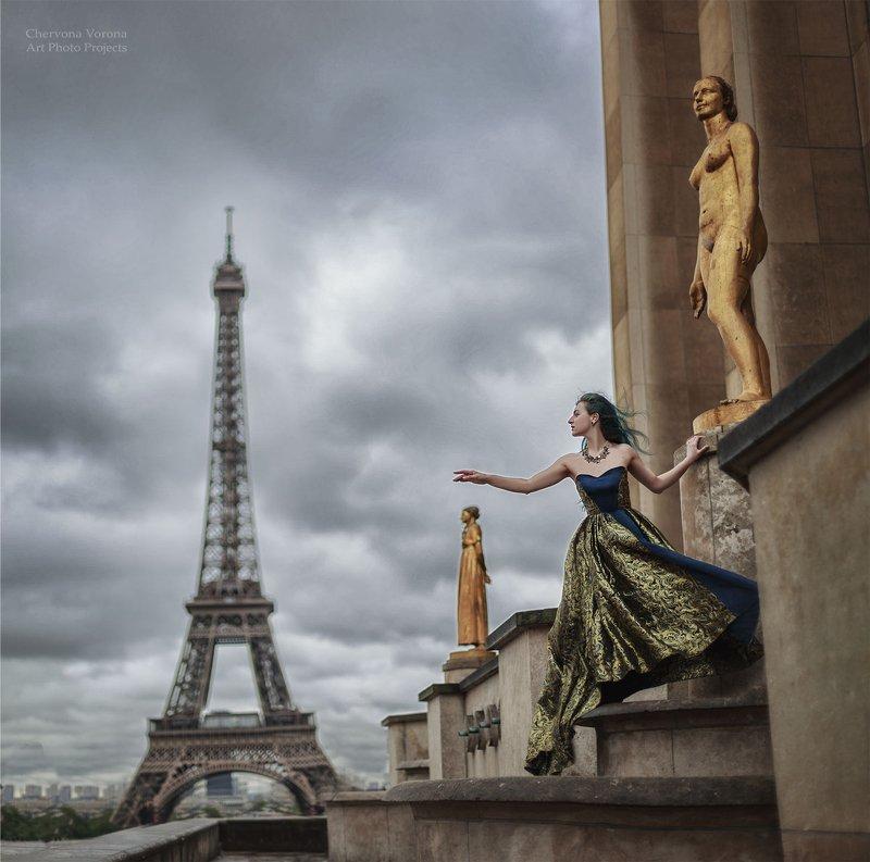 Париж, мода, небо, облака Прощай Парижphoto preview