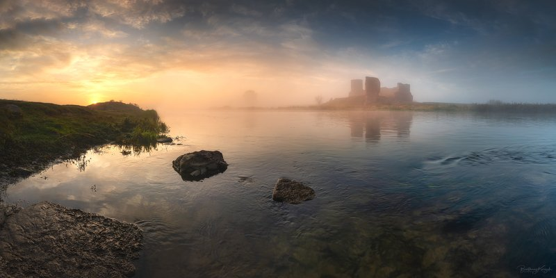morning, warta, morning, autumn, fog, river, nature, castle, koło The Mystery of Koło Castlephoto preview