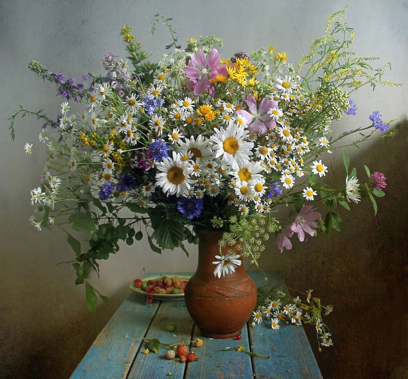 лето,  цветы, натюрморт, марина филатова ***photo preview