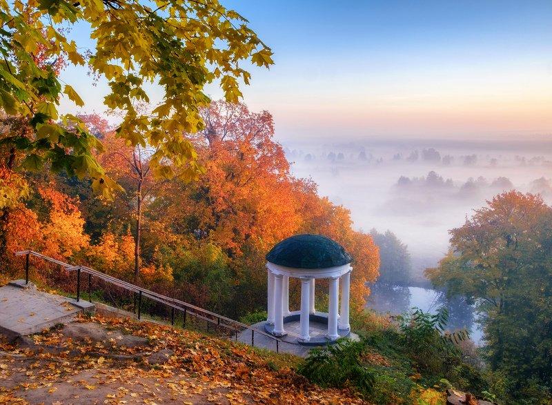 sunrise dawn landscape Осенний Седневphoto preview