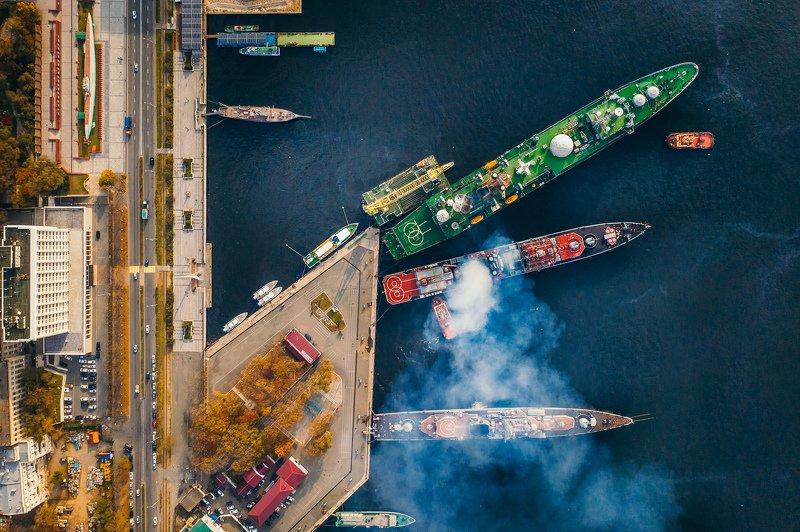 корабль, военный, база, владивосток, осень На базеphoto preview