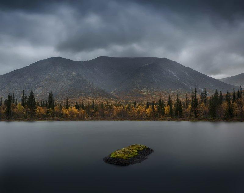 хибины, озеро, кольский, осень, река, выдержка, камень Осень в Хибинахphoto preview