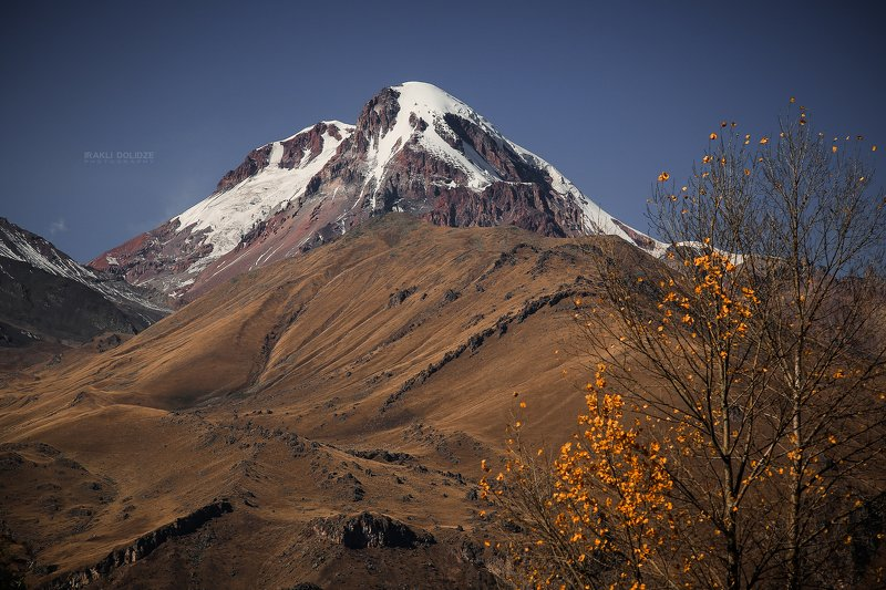 kazbek, kazbeki, sno, mountain, georgia, snow, autumn, trip, пейзаж, природа, путешествия, кавказ Mount Kazbekphoto preview
