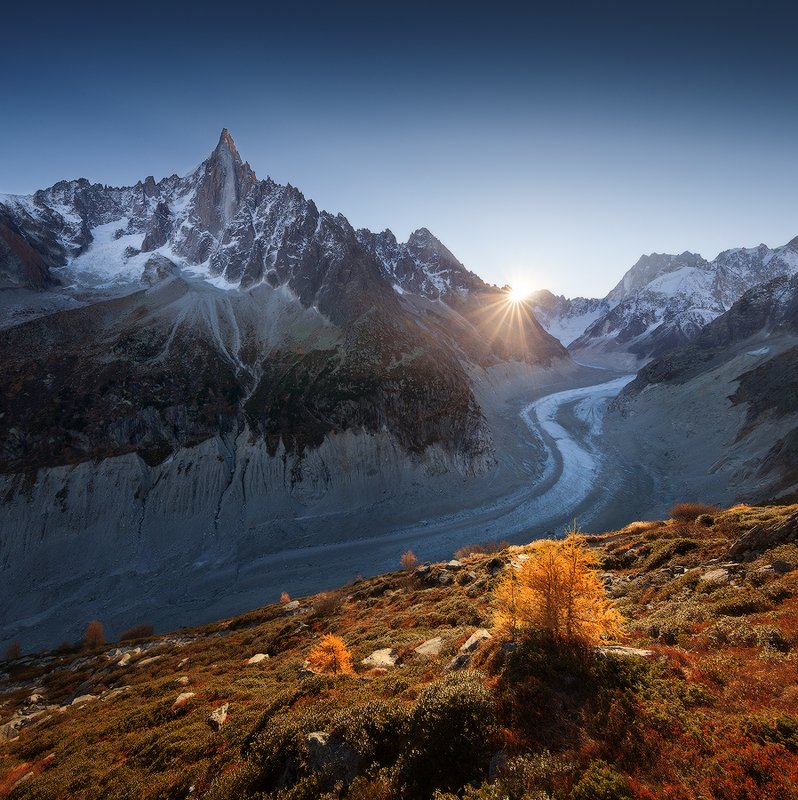 french alps, chamonix, mer de glace ***photo preview