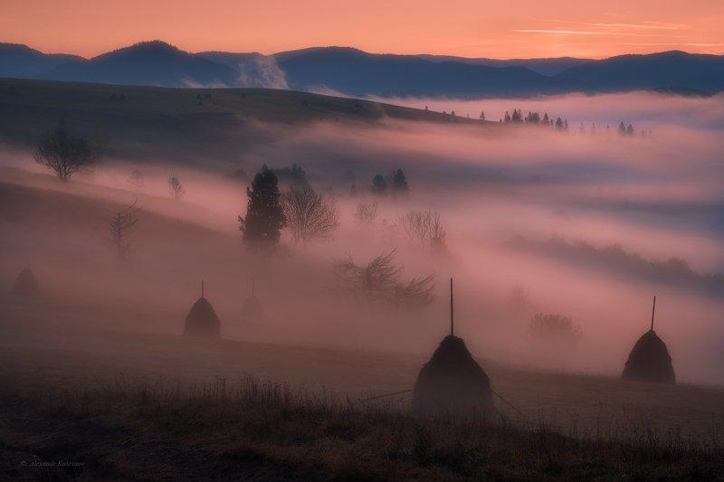 карпаты, осень, пейзаж, утро, рассвет, туман Туманно-мистические Карпаты...photo preview