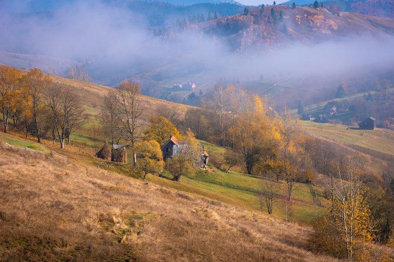 карпаты. осень. туман Карпатыphoto preview