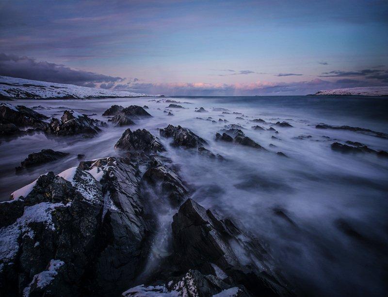 норвегия закат скалы север природа Скалы цвета грез.photo preview