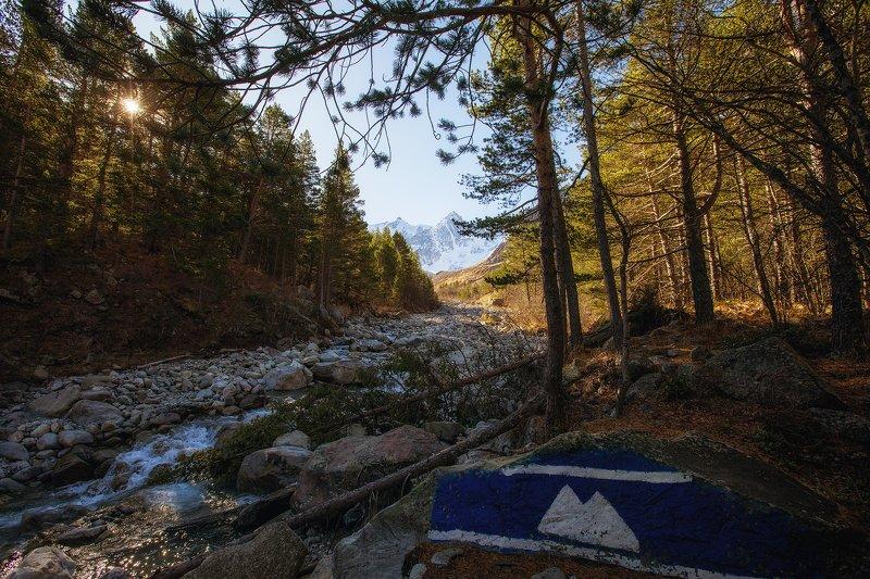 Чегем, кбр, горы, Кавказ, Булунгу, Башиль река Чегемphoto preview