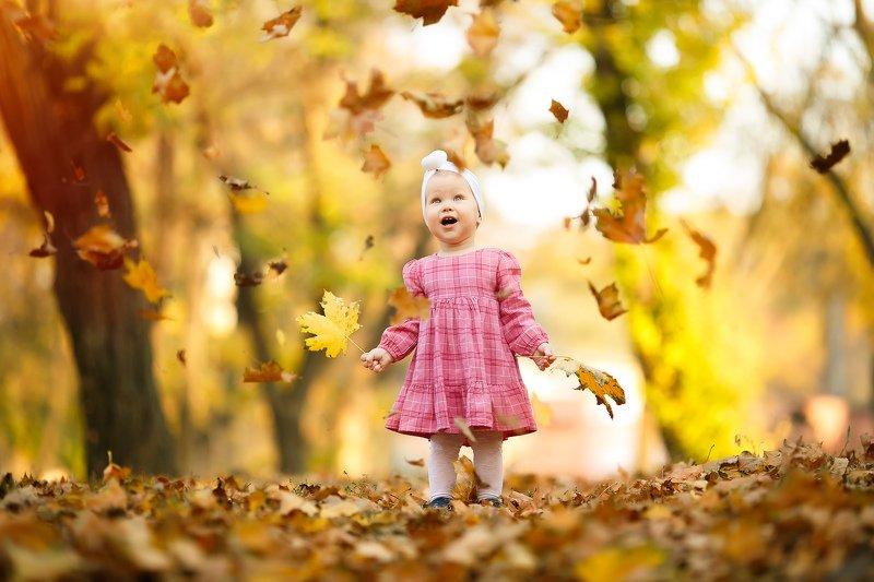 осень, ребенок, дети, детское фото Осенний листопадphoto preview