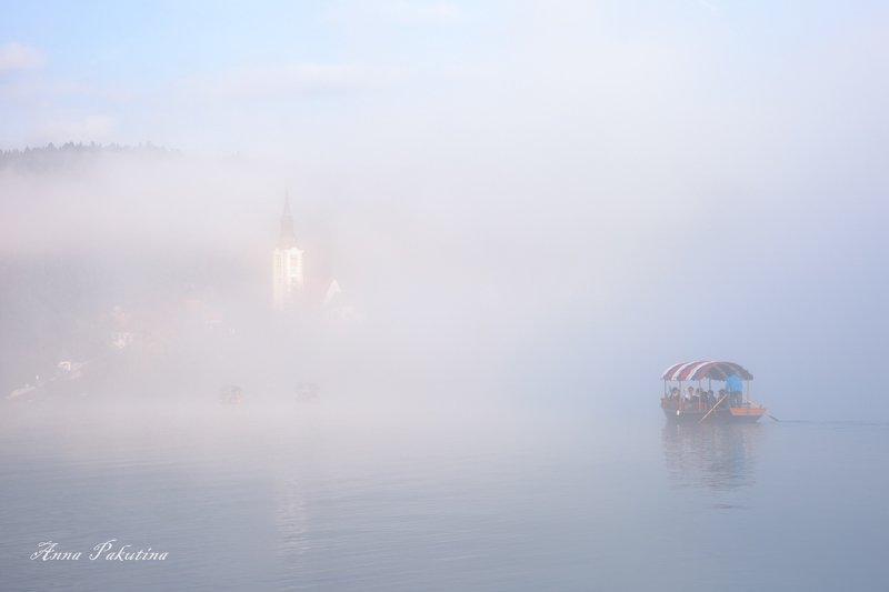 Туманное уторо. Блед, Словенияphoto preview