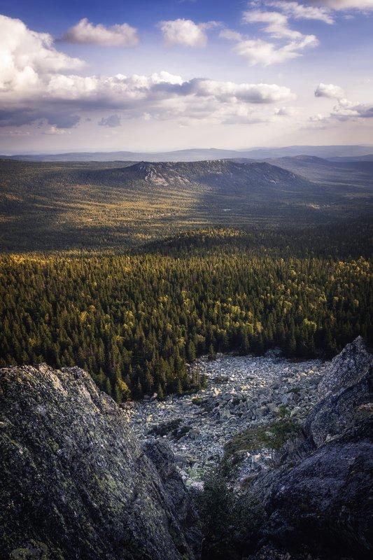 пейзаж, горы, осень, таганай, урал Национальный парк Таганай, вид с Откликногоphoto preview