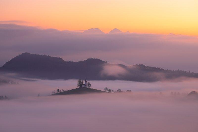 slovenia, mist, fog, morning, sunrise, saint thomas, Saint Thomas islandphoto preview