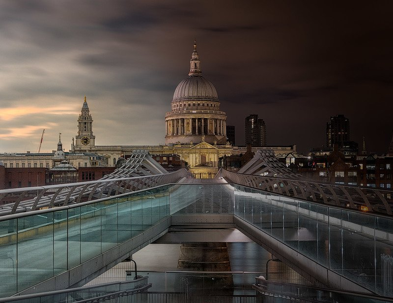 uk, london, night, day, sky, st paul\\\'s Where a night follows a day/Там где ночь сменяет деньphoto preview