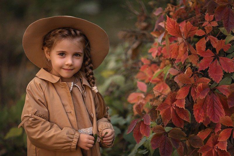 детский портрет, детский фотограф, осень Осенний портретphoto preview