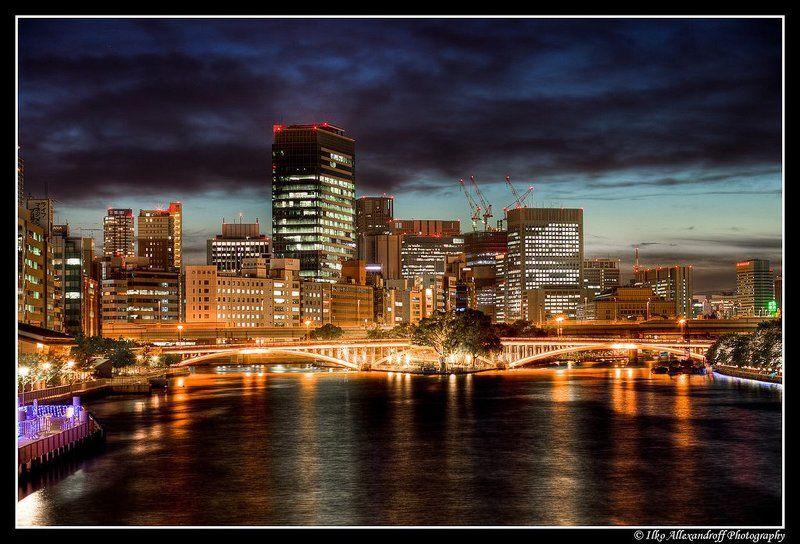 osaka, japan, night, hdr Osaka at Nightphoto preview