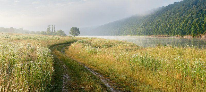 утро, днестр, река, рассвет, дорога, украина Нежное утроphoto preview