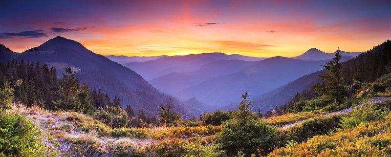карпаты, горы, мармаросы, утро, рассвет Мармарошское утроphoto preview