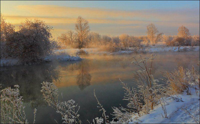 река, вечер, река миасс,  южный урал, seti, сергей тишкевич На речке провожая деньphoto preview
