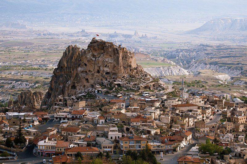 турция, каппадокия, turkey, cappadocia В небе над крепостью Учхисарphoto preview
