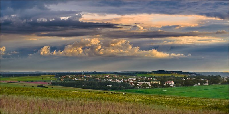 пейзаж, природа, небо, вечер, нижний новгород, На лугу пасутся Ко №2photo preview