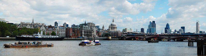 великобритания, англия, лондон, парламент, тауэр, тауэрский мост, собор святого павла, сити, темза Панорамы Лондонаphoto preview
