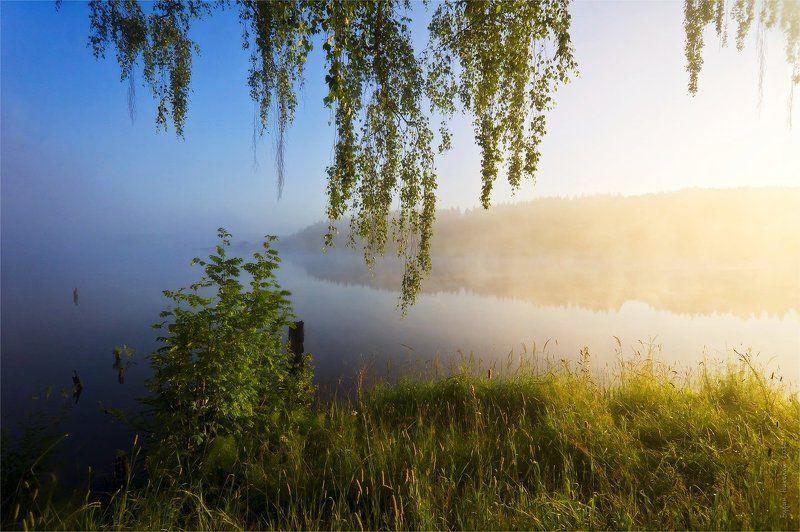 вода, небо, пейзаж, природа, рассвет, туман, утро Я снова встречаю рассветphoto preview