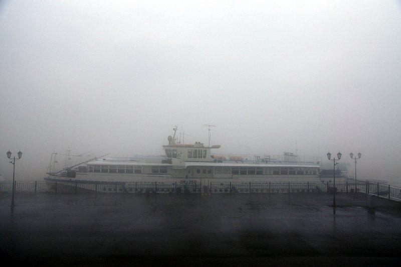 порт, утро, туман причалphoto preview
