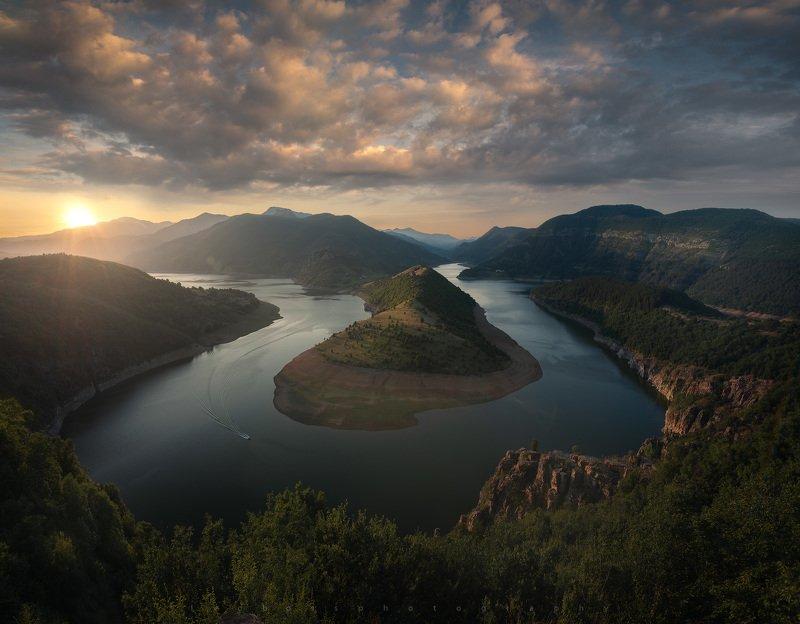 Bulgarian dam Rhodope mountain photo preview