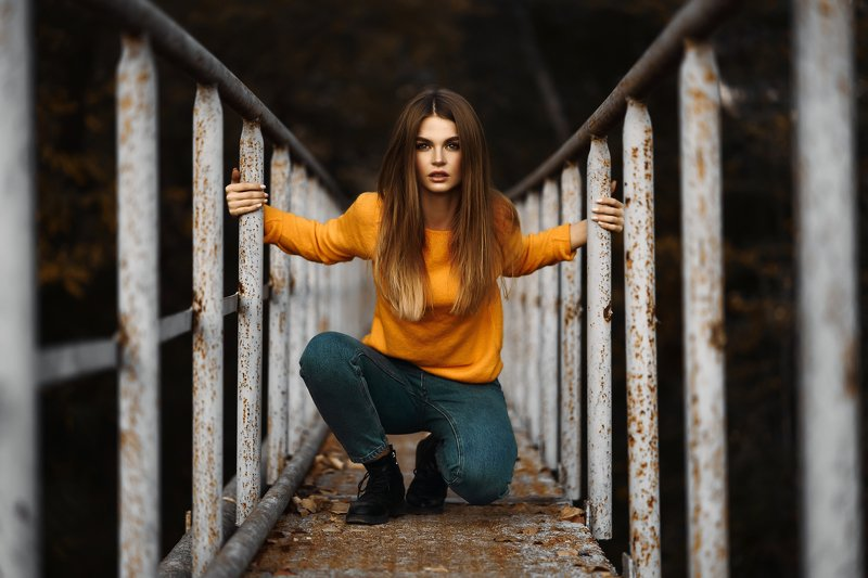 girl, autumn, sweater Юляphoto preview