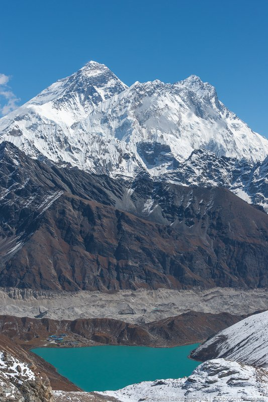 renjo, climbing, gokyo, landscape, lake, peak, summit, ngozumpa, everest, nepal, mountain, himalaya, himalayas, nature, extreme, mt. everest, lhotse, sagarmatha, nuptse, mountaneering , tourism, trekking, alpinism, altitude, hiking, hike, himalayan, khumb Everest summit, Lhotse and Gokyo from Renjo pass. Trekking in Himalayas and Nepalphoto preview