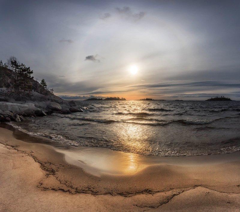 ладога, осень, шхеры, рассвет ,карелия Гало над Ладогойphoto preview