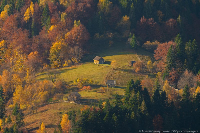 hut, carpathians, carpathian mountains, pasture, countryside, picturesque, mood, tranquil, houses, wooden, rural, mountains, foliage, wonderland, land, meadow, field, scenic, tourism, season, house, autumn, mountain, landscape, fall, background, beautiful Village Houses and autumn foliage trees in the mountains. Meadow and forest in the carpathian mountainsphoto preview